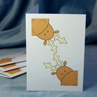 Christmas Card Pack - Double Reindeer