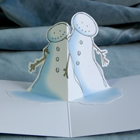 SALE: Christmas Pop Up Card - Snow Hug