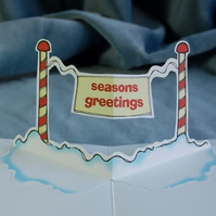 SALE: Christmas Pop Up Card - Seasons Greetings