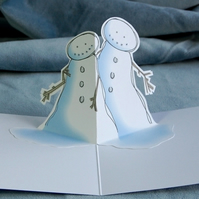Christmas Pop Up Card - Snow Hug