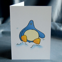 Christmas Card 4 Pack - Penguin Plays