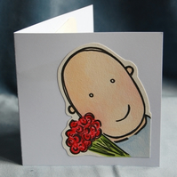 Original Pop Up Flowerman Card for Valentines