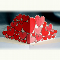 Original Allhearts Pop Up Card for Valentines