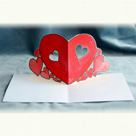 Original Valentine Hearts Pop Up Card