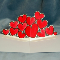 Original Bold Hearts Pop Up Card for Valentines