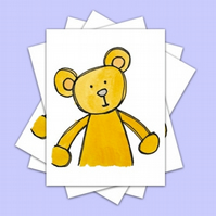 Teddy Postcards 4 Pack