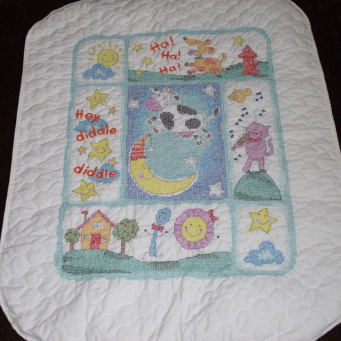 Wip Cross Stitch Baby Quilt Images - Frompo