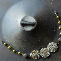 Embossed Bracelet in Green