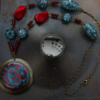Red and Blue Necklace