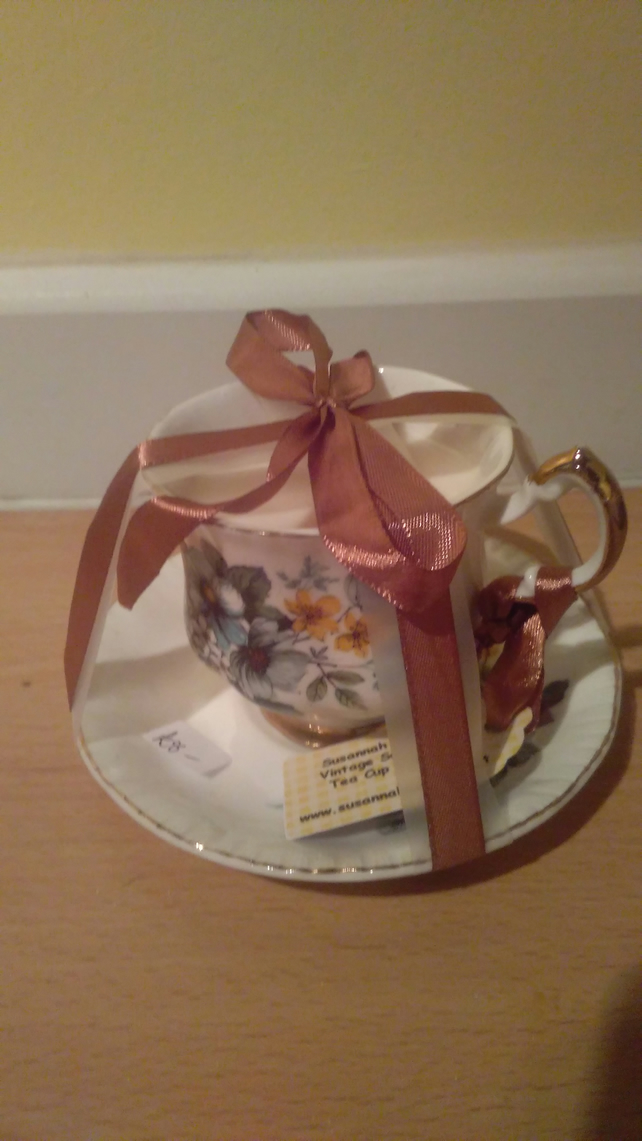 Teacup candle with soya wax