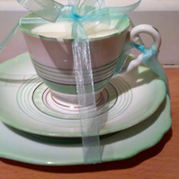 Bone china vintage teacup candle with soya wax