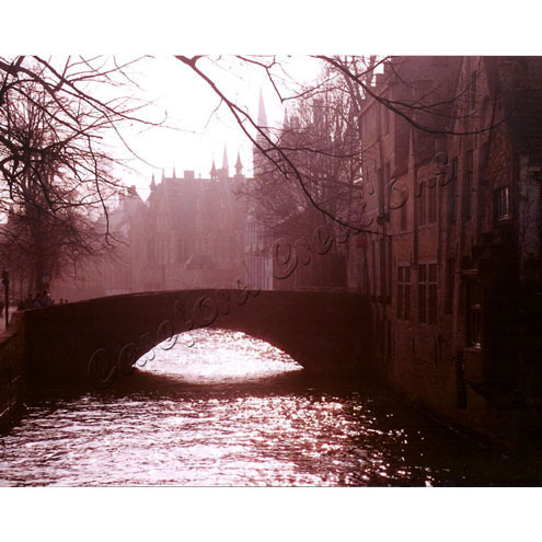 "Evening Stroll, Bruges, Photographic Print 10"" x 8"" - free shipping"