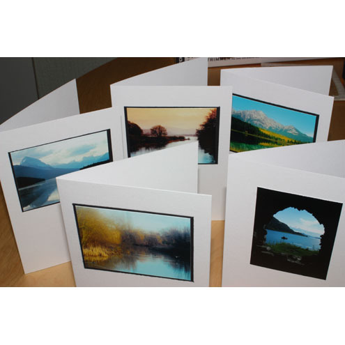 Set of 5 Lakes Greeting Cards - free shipping