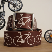 Personalisable Leather Bikes Belt