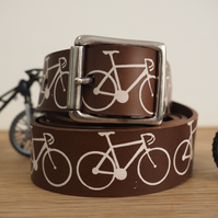 Bikes Leather Belt