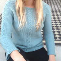 Double Moss Stitch Top Knitting Pattern (PDF File)