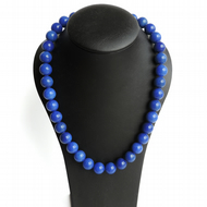 Chunky Royal Blue Necklace - Cobalt Blue Stone Jewellery - Bright Blue