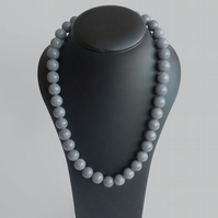 Chunky Grey Necklace - Grey Stone Jewellery - Grey Mother of the Bride or Groom