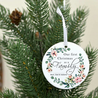 Our first Christmas as a family ornament - Christmas ornament personalized famil