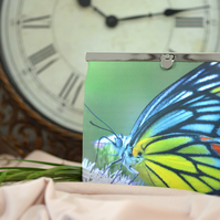 Clutch bag with butterfly wings - Special gift idea - Green clutch purse Evening