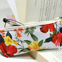 Tropical glasses holder - Reading glasses case fabric - Eyewear case - Sunnies c