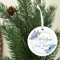 Christmas in our first home gift for new home owners - Christmas tree ornament