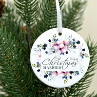 Our first Christmas married ornament Christmas tree ornament - Married Christmas