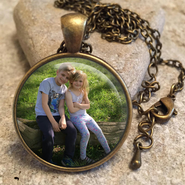 Personalised Photo Pendant Necklace, Personalized Photo Necklace, Mothers Day Gi