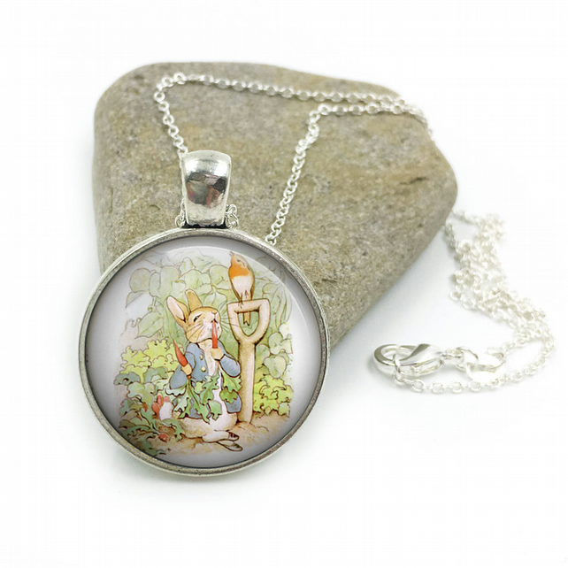 Peter Rabbit Necklace, Beatrix Potter Jewellery, Peter Rabbit jewelry, Peter Rab
