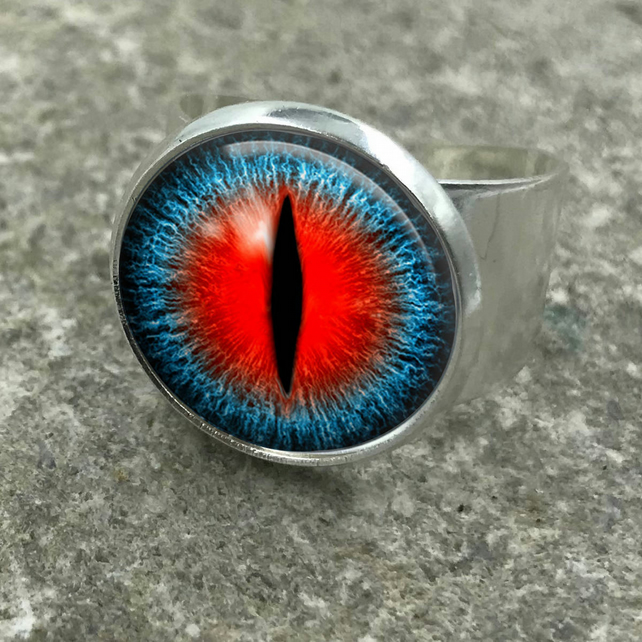 Dragon Eye Ring, adjustable ring, dragon, eye, fantasy, dragon eyes, dragon jewe