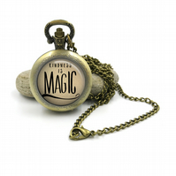 Inspiration Jewelry Pocketwatch Necklace, Quote Jewelry,Quote Jewellery,Inspirat