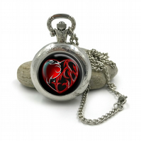 Gothic Horror Pocket Watch Necklace, Gothic Jewellery,Gothic Horror jewelry, hor