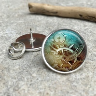 Steampunk Lapel Tie Pin Badge, victorian, gothic, vintage, steampunk jewelry, st