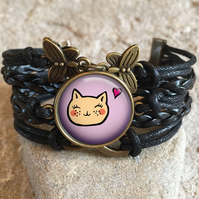 Best Cat Lover Gift Bracelet, gift for her, cat lady gift, funny cat, cat jewell