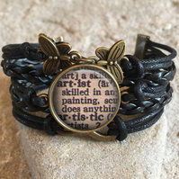 Dictionary Artist Braided Clasp Bracelet