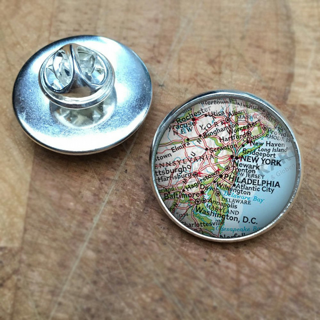 Personalised Map Lapel Pin, personalized map, map art, personalised map,  Gift fo