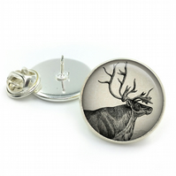 Stag Lapel, Deer, Hunting, Gifts For Him, Lapel, Wedding Lapel, Vintage, Woodlan