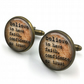 Believe Dictionary Cuff Links, Dictionary Cufflinks, Dictionary Sayings Jewelry,