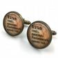 True Dictionary Cuff Links, Dictionary Cufflinks, Dictionary Sayings Jewelry, Tr