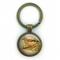 Jay British Birds Keyring, Jay, Gift for Him, Gift for Men, painting, British bi