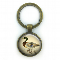 Duck Keyring, Game Ducks ,Gift for Him, Gift for Men, painting, Duck, British bi