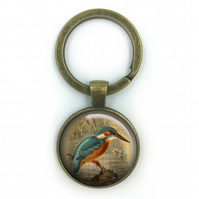 Kingfisher Keyring British Birds Keyring, Kingfishers ,Gift for Him, Gift for Me
