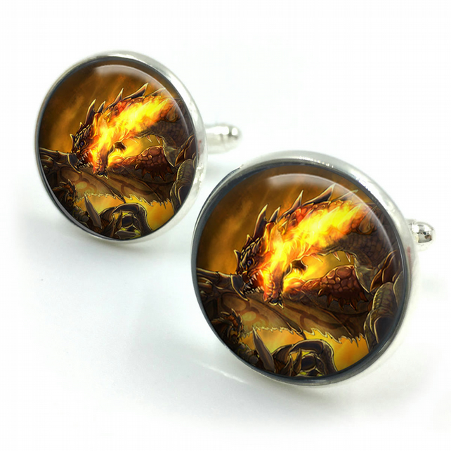 Dragon Cuff Links, Dragon Cufflinks, Dragon Jewellery, Dragon Jewelry,Men Dragon