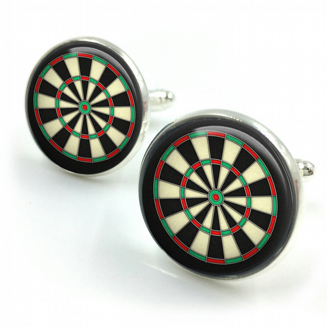Dart Cufflinks, Darts, dartboard, cufflinks, gifts for him, gifts for groom, boy