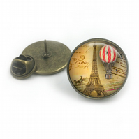 Vintage Hot Air Balloon Lapel, Balloon Lapel Tie Pin, Balloon Lapel, steampunk j