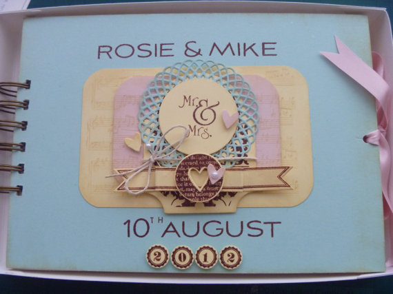shabby chic wedding guest book