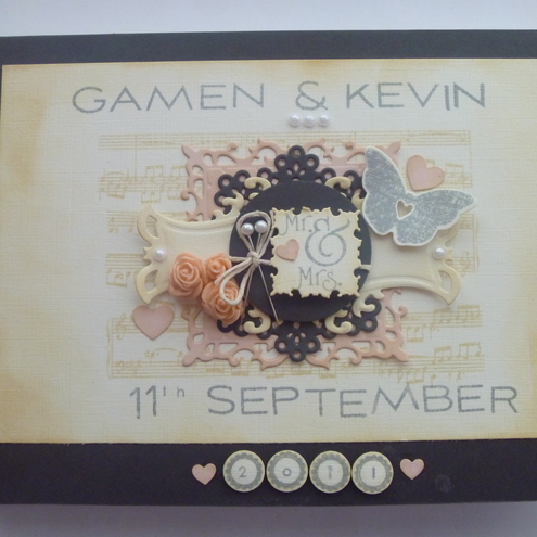 vintage shabby chic wedding guest book
