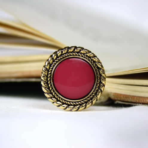 Vintage Berry Red Ring