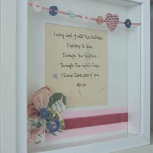 Framed Prayer- New Baby, Christening or First Holy Communion