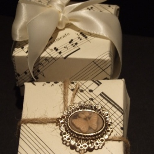 25 x Wedding Favour Boxes- from Vintage Sheet Music